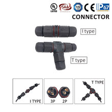 цена на High Quantity Waterproof Cable Connector  Wire Waterproof L T type IP68 cable connector plug socket Male Female 2pin 3pin
