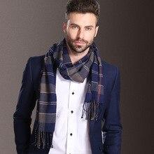 Новая европейская мода шаль шарфы для мужчин зимний теплый Тартан шарф бизнес Sjaal плед хлопок обертывания Bufanda платок szaliki i chusty