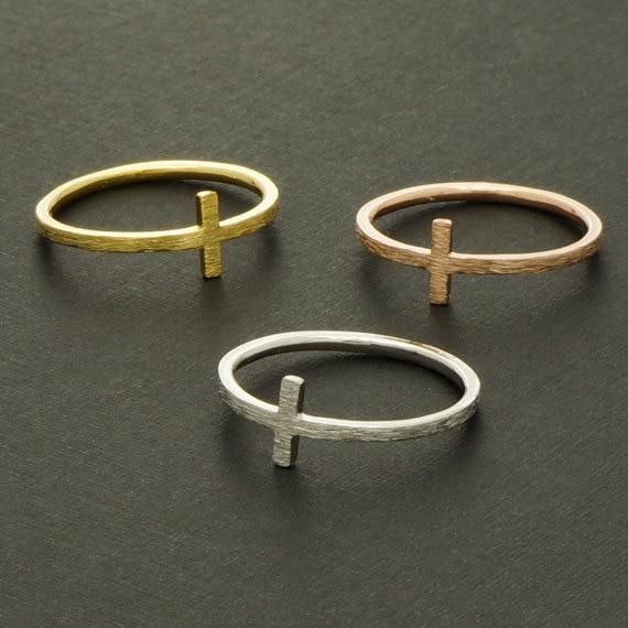 8e92d6d9554a 2015 bisutería oro plata oro rosa Vintage dedo anillos cruzados para para  hija regalo de cumpleaños