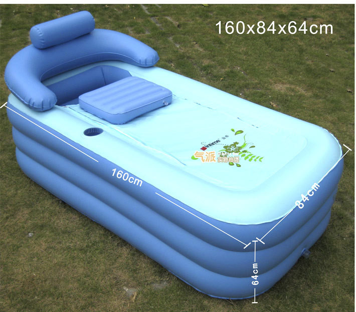 adult spa pvc folding portable bathtub for adults inflatable bath tub size 160cm 84cm 64cm. Black Bedroom Furniture Sets. Home Design Ideas