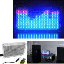 DIY  music spectrum display box parts LED colorful music spectrum of 51 single-chip DIY LED audio Kit