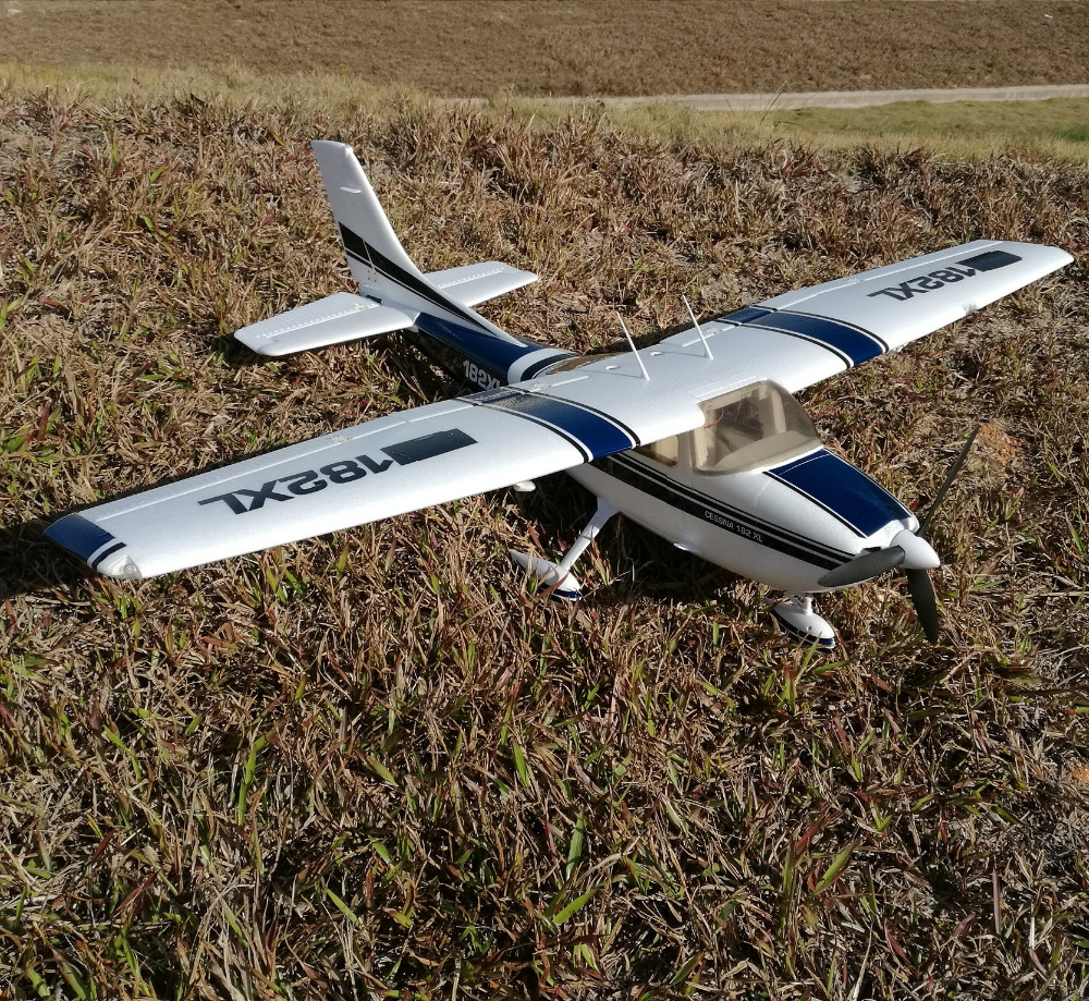<font><b>RC</b></font> Toy <font><b>Plane</b></font> EPO <font><b>Cessna</b></font> <font><b>182</b></font> 1410mm Wingspan 6ch With Flaps and Led Light PNP image