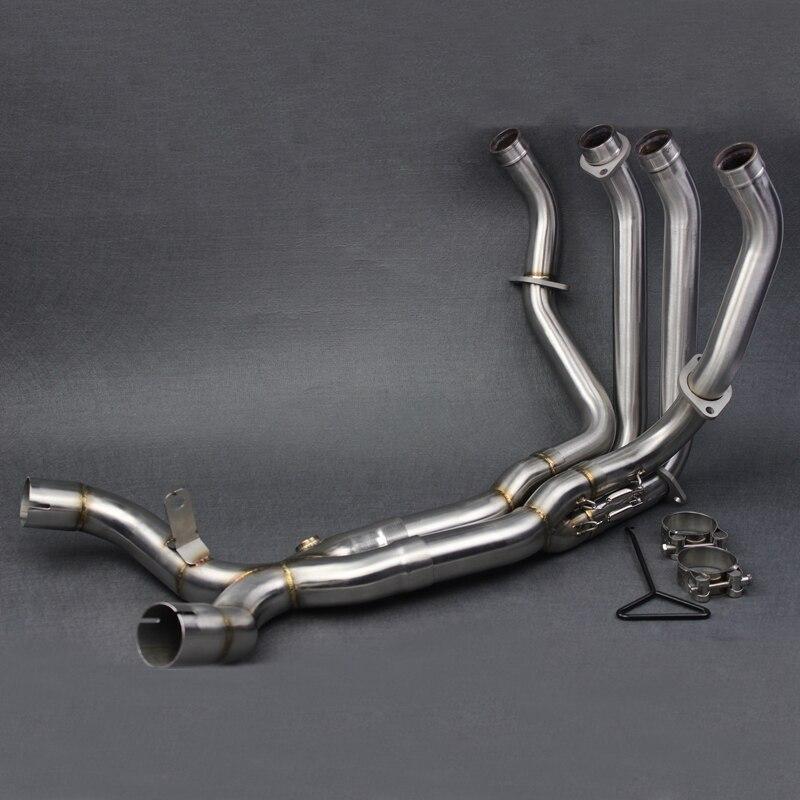 Z1000 2010-2016 мотоцикл глушитель труба изменение stainess Сталь спереди трубы Полный Системы для Kawasaki Z1000 2010 -1016