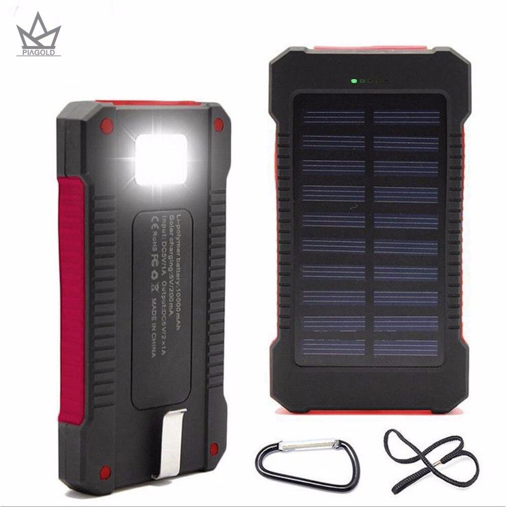 Солнечный Запасные Аккумуляторы для телефонов случае 20000 мАч Dual USB Порты и разъёмы открытый Водонепроницаемый Запасные Аккумуляторы для те…