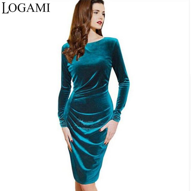 low priced 4dd40 bbc79 US $12.35 35% OFF|Fluwelen dress wrap elegante herfst jurken vestiti donna  eleganti vestido casual vestidos casuales de mujer vrouwen knielengte 2016  ...