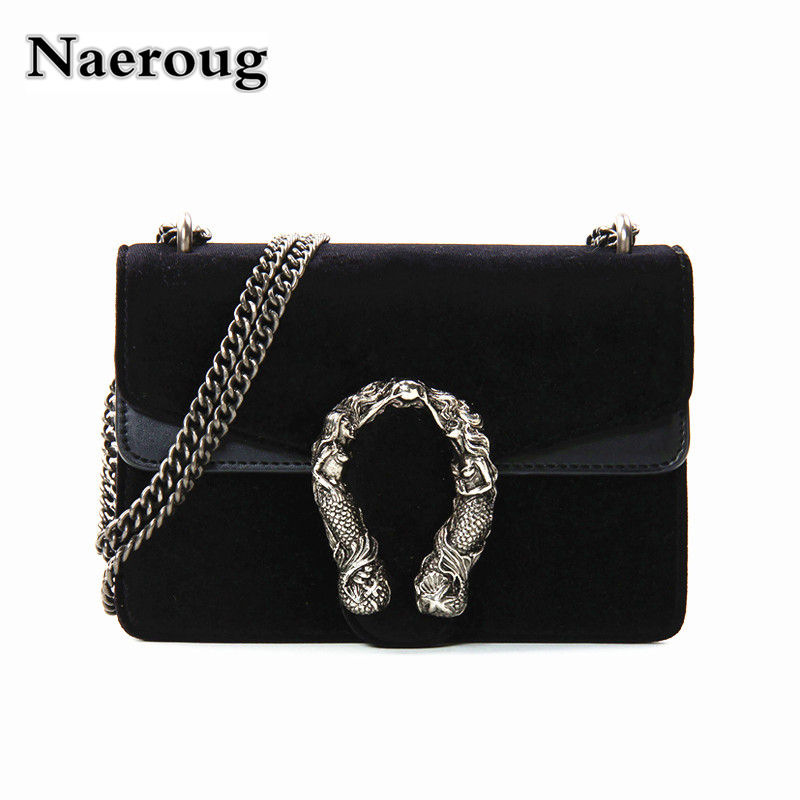 Luxury Brand Women Bag Fashion Chain Lock Shoulder Bag Famous Designer Lady Messenger Crossbody Bag Female Velvet Handbag Clutch teridiva women bags fashion brand famous designer mini shoulder bag woman chain crossbody bag messenger handbag bolso purse