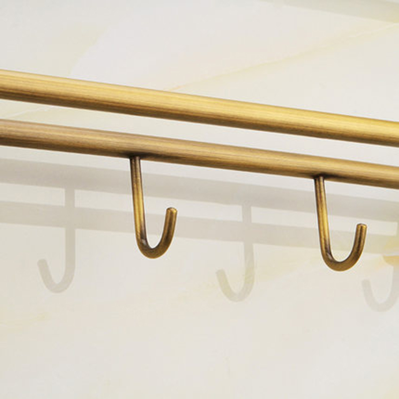 KEMAIDI Bathroom Shelf Antique Brass Triple Tier Wall Mounted Shower Bathroom Shelve Bathroom Accessories
