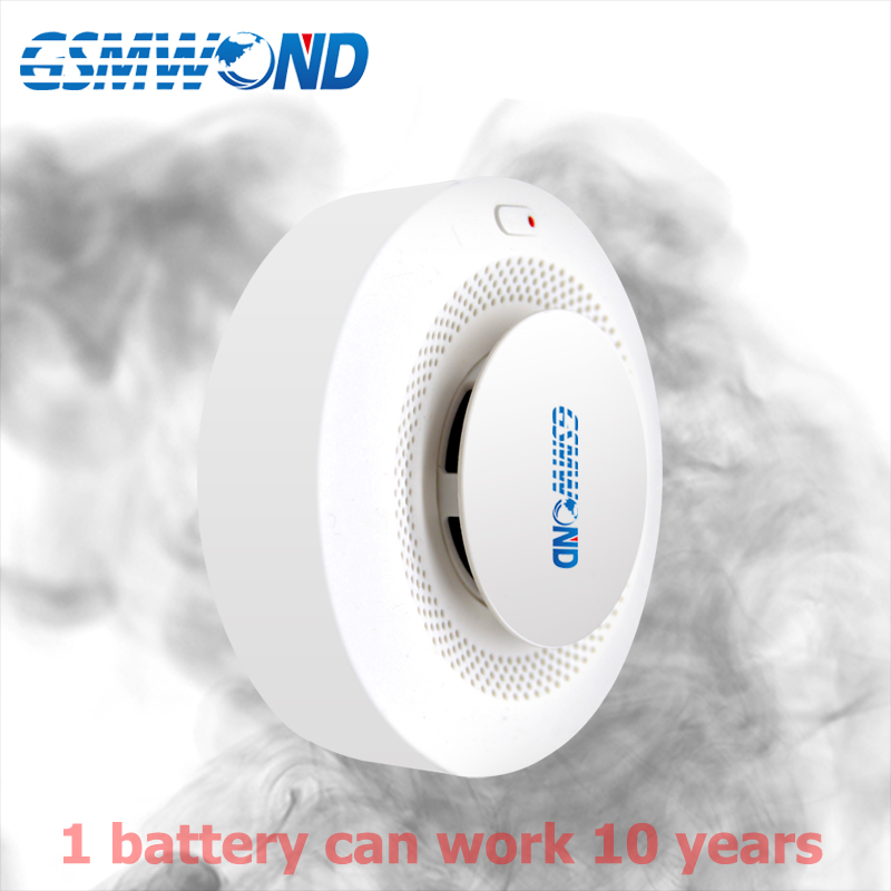 433MHz Wireless Smoke Detector One Battery Work 10 Years Low Power Consumption For Home Burglar Alarm System Protect Property