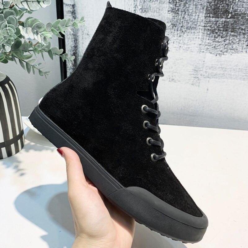 Pour Botines Lacent Chaussures Noir Mujer Chaussons Beige Réel Daim Femmes Taille Pic Combat Bottes Rond 40 as En Cowboy Bout Pic 2019 Cheville As zWfAqrwzP