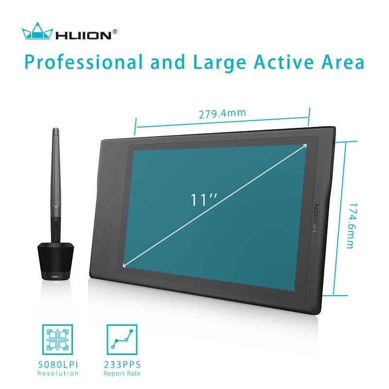 Ny Huion Inspiroy Q11K Trådløs Grafisk Tegning Tablet Digital Pen - Computerudstyr - Foto 3