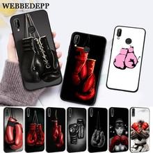 WEBBEDEPP Cartoon Boxing Girl Gloves Silicone Case for Huawei P8 Lite 2015 2017 P9 2016 Mimi P10 P20 Pro P Smart 2019 P30 все цены