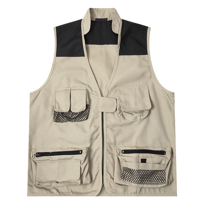 Vests Male With Many Pockets Oversize Sleeveless Vest Winter Autumn Warm Cotton Thermal Shoulder Korean Version Thicker Jacket