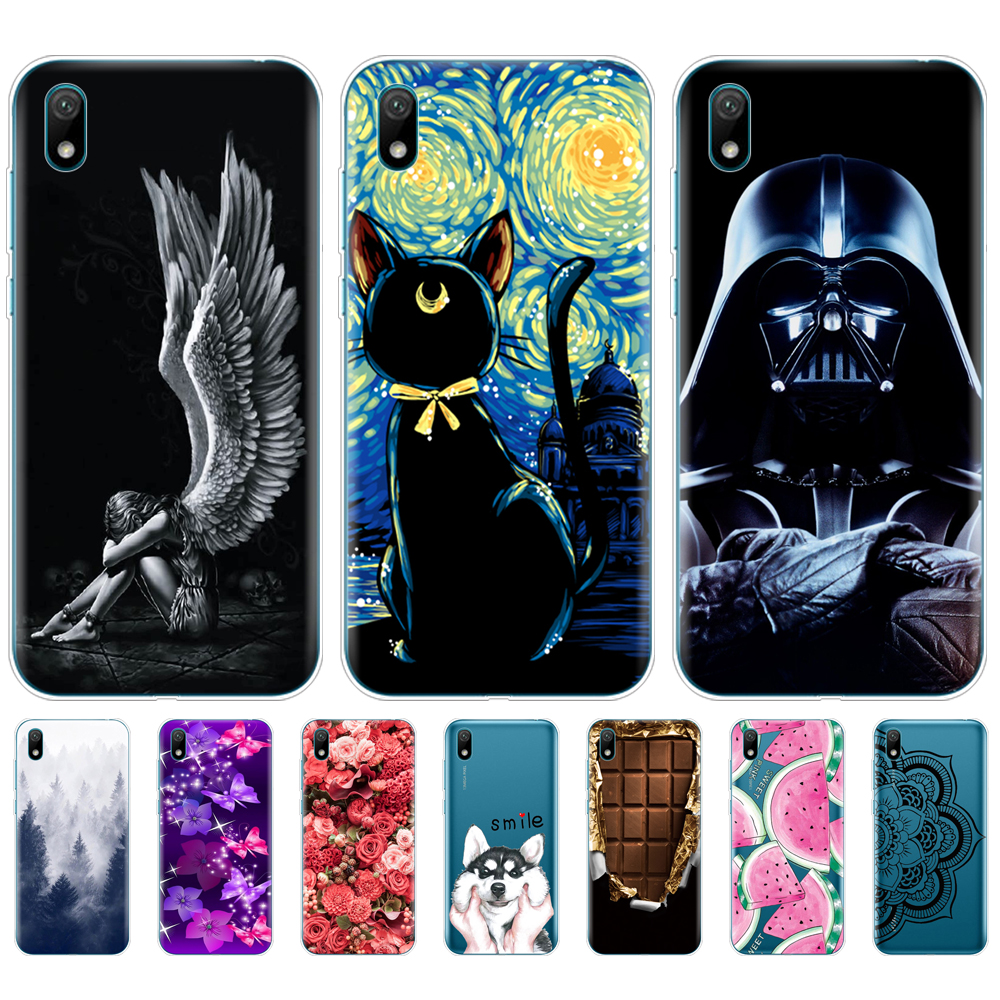 For Huawei Y5 2019 Case Silicone Soft TPU Back Phone Case Cover For Huawei Y5 2019 Protective Coque Bumper 5.71 Inch Painting