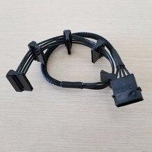 10 шт./лот ATX 4Pin IDE Molex до 5 x SATA серии ATA Питание кабель мужчин и женщин 18AWG 40 см для PC DIY