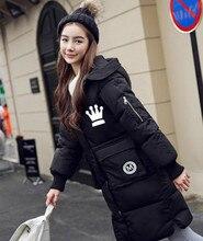 Новая зимняя 2017 BIGBANG KPOP мужчины женщины Корейской версии черный Розовый серый зеленый Письмо печати С Капюшоном Утолщение пальто пуховик