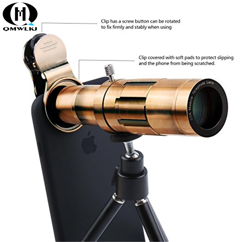 Retro HD Mobile Phone Telescope 22x Zoom Telephoto Lens External Smartphone Camera Lenses For IPhone Huawei
