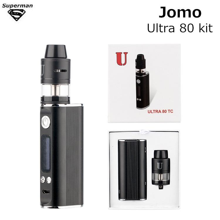 2017 Original JomoTech Ultra 80 TC Vaporizer Kit VTC box Mod 2600mAh RDTA 2ml Top Filling Tank Elektronik Sigara Hookah Vape Pen