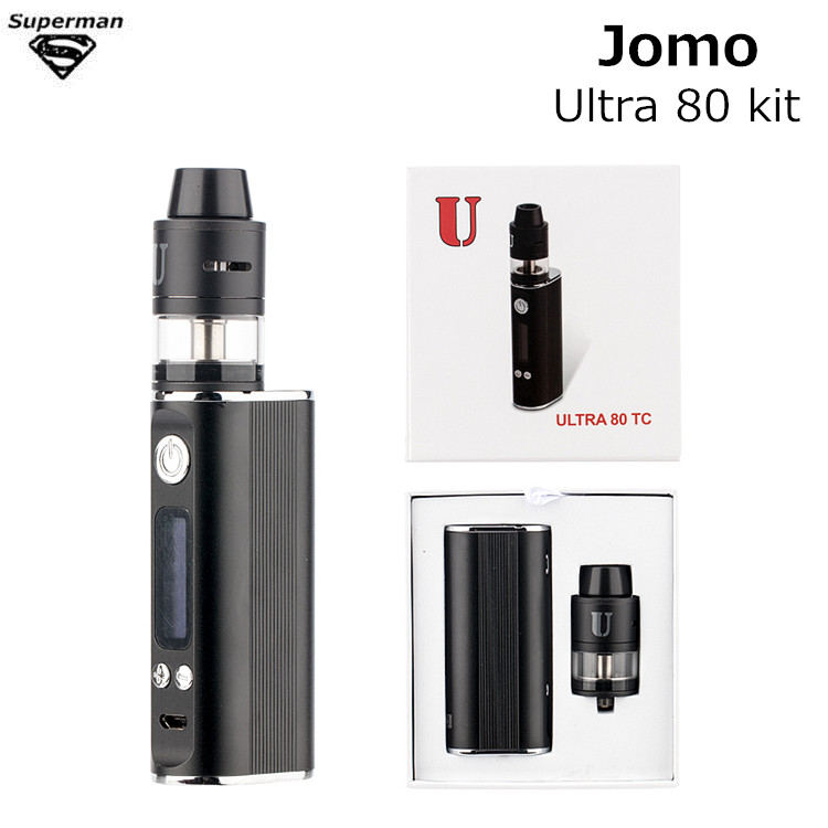 2019 Original JomoTech Ultra 80 TC Verdampfer Kit VTC Box Mod 2600 mAh RDTA 2 ml Top Füllung Tank Elektronik sigara Shisha Vape Stift