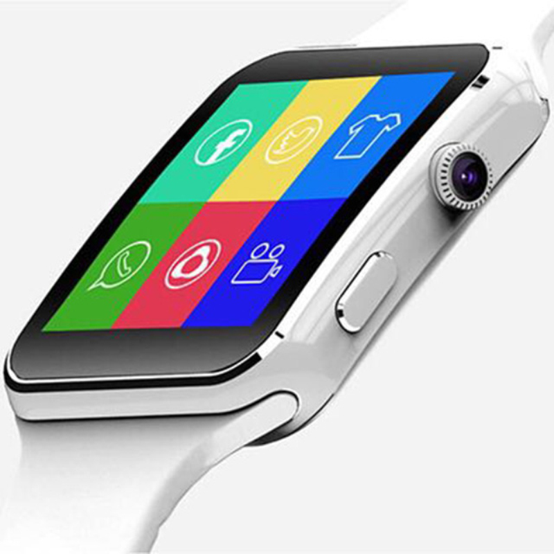 Nova Chegada X6 Relógio Inteligente com Câmera Touch Screen Suporte SIM Card TF Bluetooth Smartwatch para iPhone Xiaomi Android Phone