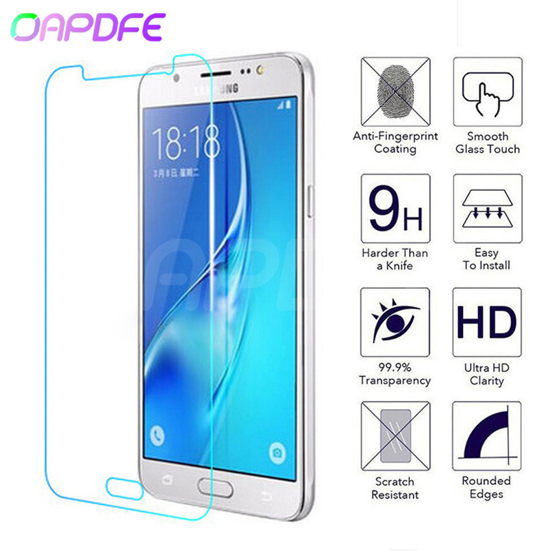Protective Glass For Samsung Galaxy J3 J5 J7 A3 A5 A7 2015 2016 2017 A6 A8 Plus 2018 Tempered Screen Protector Glass Film Case