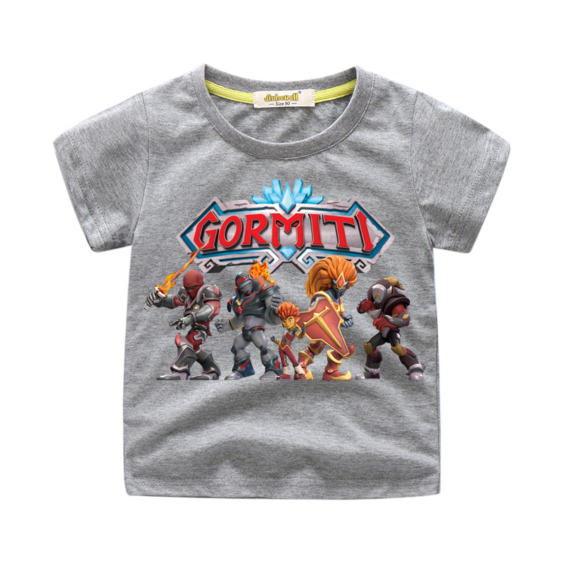 Kids Gormiti Game T-shirts Costume Children Summer Tshirts Boy Girls Cartoon Short Sleeve 100%Cotton T Shirts Tee Top Baby WJ194