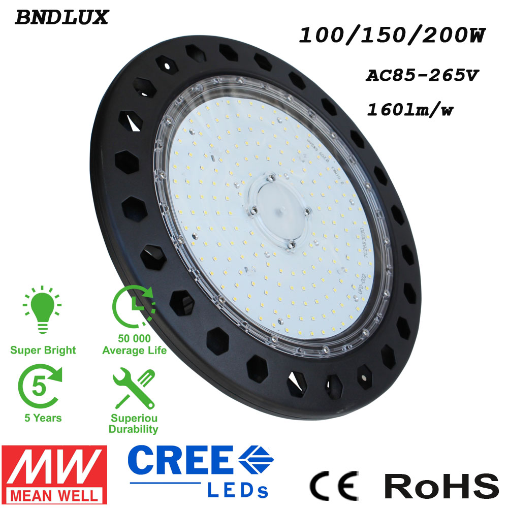 100//150//200W UFO LED High Bay Light Warehouse Shop Factory Light Commercial Lamp