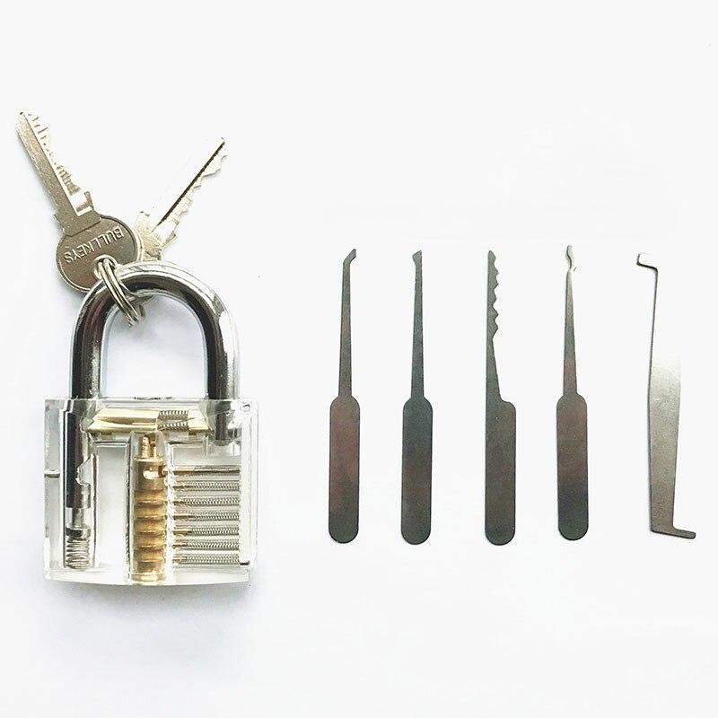 Practice lock with Broken Key Extractor Set Tool Key Removing Removal Hooks Lock Kit padlock practice lock  hakkadeal broken key removal practice padlock set