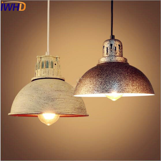 IWHD LED Loft Industrial Pendant Lighting Fixtures Indoor Lighting Retro Vintage Pendant Light Lamparas Colgantes iwhd loft style creative retro wheels droplight edison industrial vintage pendant light fixtures iron led hanging lamp lighting