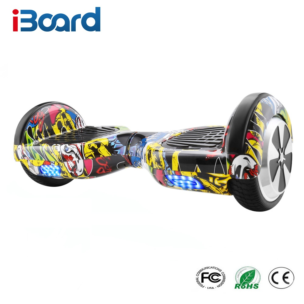 iBoard 6.5 inch 2 Wheels Smart Electric Hoverboards with LED Light Carrying Bag