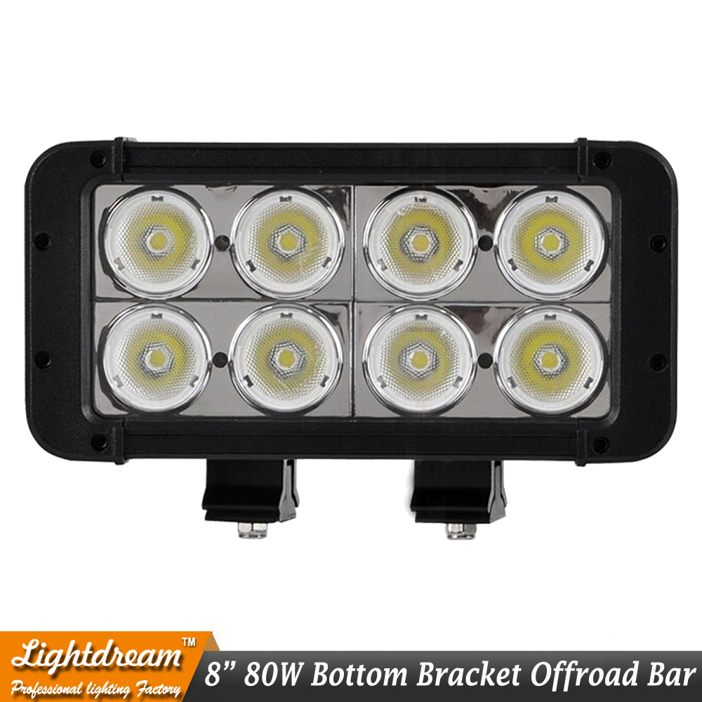 12V 8inch 80W Led bar led light bar For Escape superb A4 B7 fiesta wrangler grand vitara x1pc bottom bracket 10W Led offroad bar
