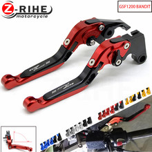 цена на With Logo GSF1200 BANDIT For Suzuki GSF1200 BANDIT 2001-2006 05 Motorcycle Adjustable CNC Brake Clutch Levers Telescopic folding