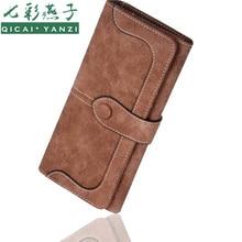 QICAI.YANZI 2017 New Desigh 9Colors Fashion Lady Purse Women Wallet PU Leather Long Popular Handbags Card Holder Bags Brand N697
