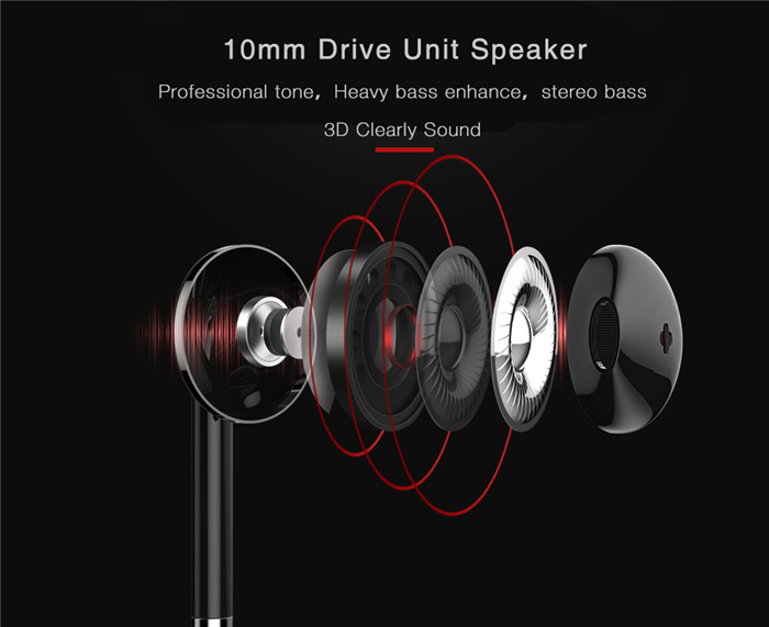 Outdoor Bluetooth Earphone Headphones With LED Backlight Power Indicator for Huawei Enjoy 7 Plus TRT-AL00