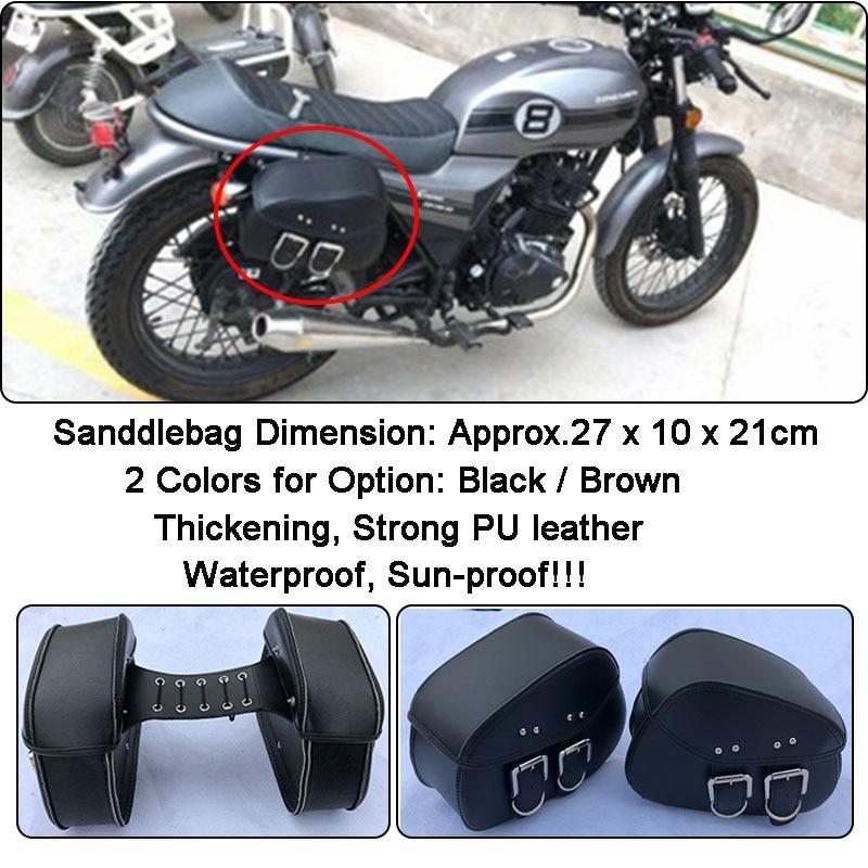 2Pcs Alforjas Bolsas de Herramientas Laterales Motocicleta Para Harley Chopper