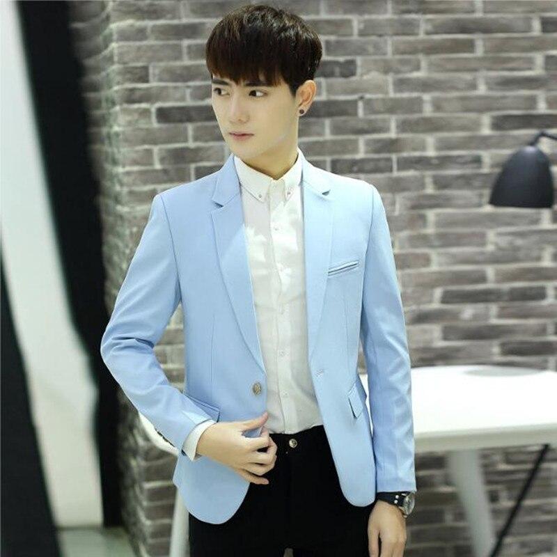 New arrival men suits jacket pure color one button formal business ...