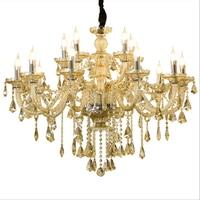 Contemporary LED Crystal Chandelier Lights Crystal Drop Lighting Luxury Lamps Hotel Living Room Villa Loft Chandelier Lights