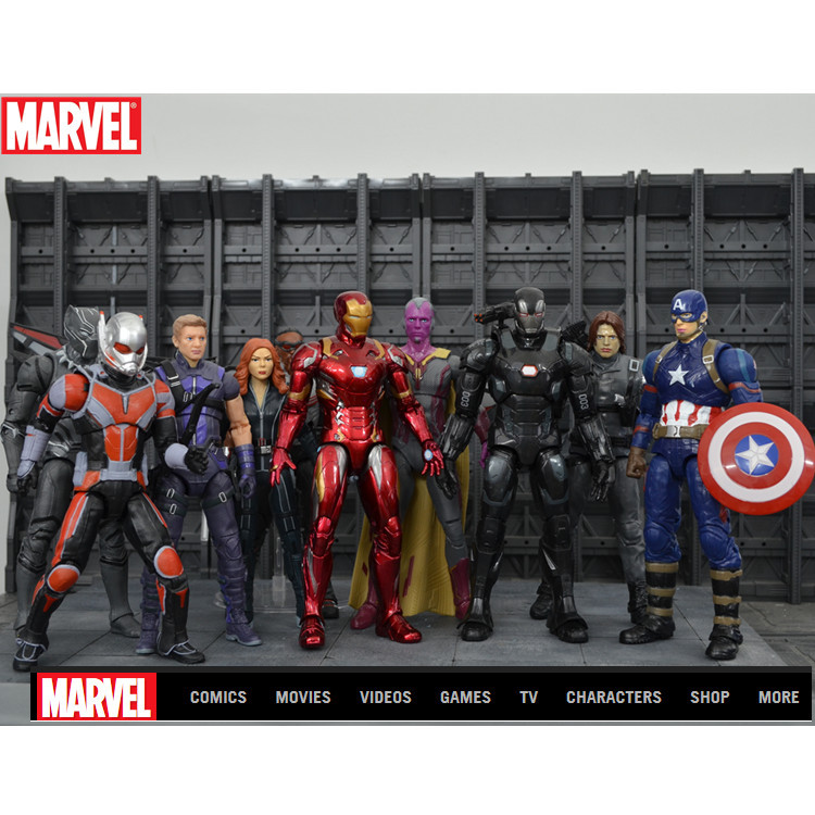 Marvel Captain America Civil War Giant-Man PVC Action Figure Collectible Toy marvel captain america civil war scarlet witch pvc action figure model toy