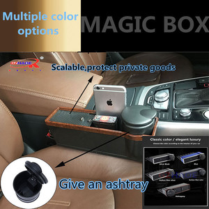 Car seat crevice storage box central container box telescopic cover to protect the personal belongings of smart phones