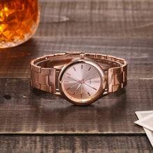 À la mode dames montre mode coréen Rose or Quartz montre-bracelet femme horloge en acier ceinture femmes montre robe montre-bracelet Relogio XQ