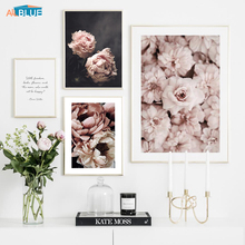 Scandinavian Style Peony Flower Painting Wall Art Canvas Posters And Prints Nordic Decorative Picture For Living Room Home Decor цена