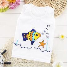 New summer baby vest shirt for boy and girl 100% cotton kids clothing tops cartoon sleeveless children retail