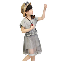 2018 New Girls Clothes Children Summer Clothing T-Shirt And Tutu Skirt Tracksuit Suit Set For Girls Sets 4 6 8 10 12 14 16 Years