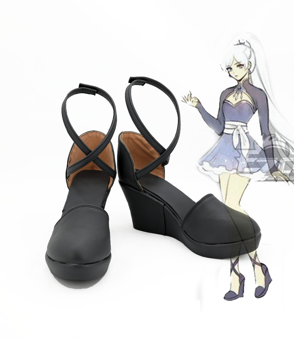 RWBY Weiss Schnee Cosplay Boots Anime Shoes For Women Girls For Christmas Hallowen Carnival цена