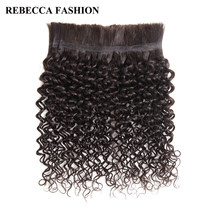 Rebecca Brazilian Remy Curly Bulk Human Hair For Braiding 1 Bundle Free Shipping 10 to 30 Inch Natural Color Hair Extensions(China)