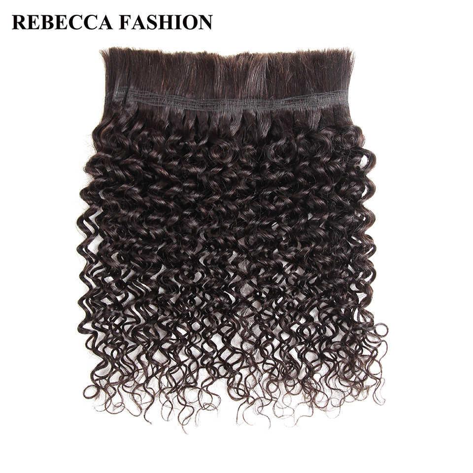 Rebecca бразильские Remy кудрявые объемные человеческие волосы для плетения 1 пучок Бесплатная доставка 10 до 30 дюймов Натуральные Цветные наращивания волос