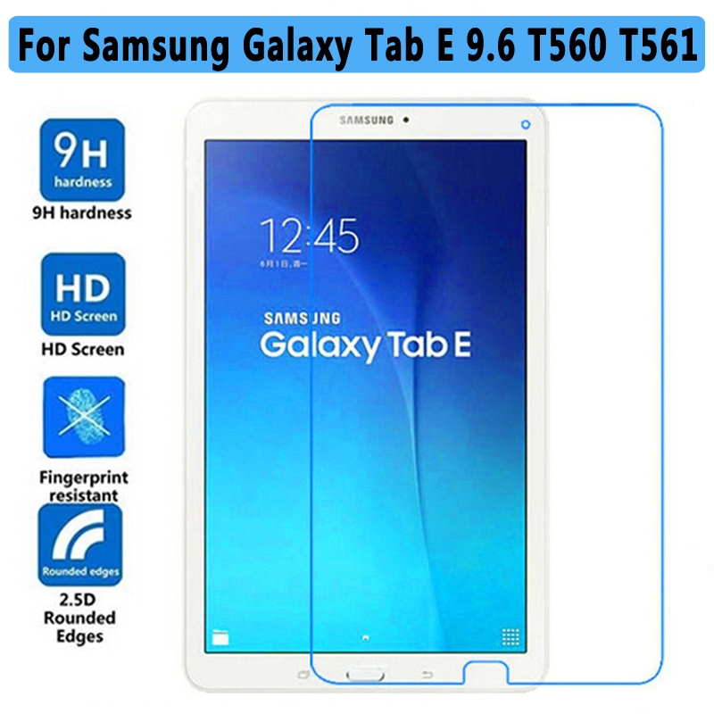 100% Premium Tempered Glass Film for Samsung Galaxy Tab E 9.6 T560 Screen Protector for Samsung Tab E 9.6 T561 Tempered Glass