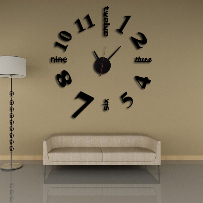 2016 New 3d Clock Wall Clocks Reloj De Pared Watch Large