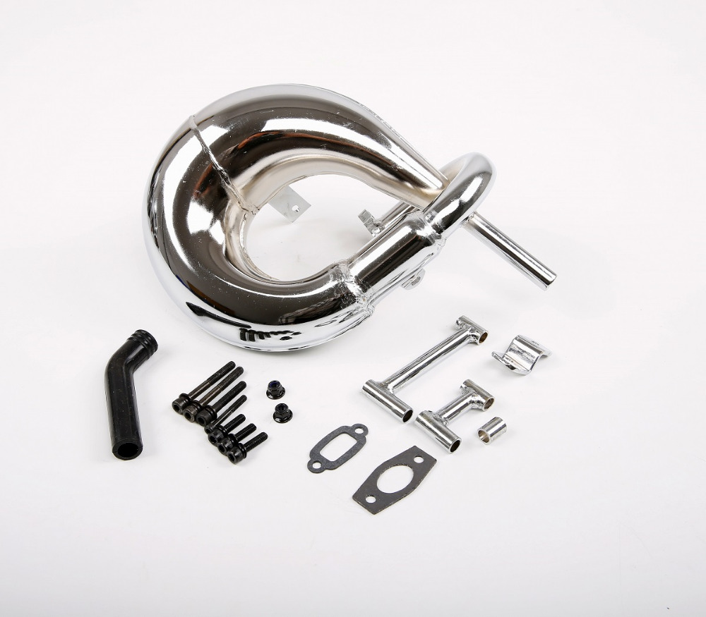 Swirl font b exhaust b font pipe for 1 5 losi 5ive T rovan lt king