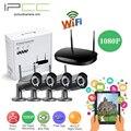 IPCC 1080 P 4ch Wi-Fi 2-мегапиксельная ip-камера kit Крытый и OutdoorCamera Безопасности Видеорегистратор Поддержка iPhone/Android Просмотр