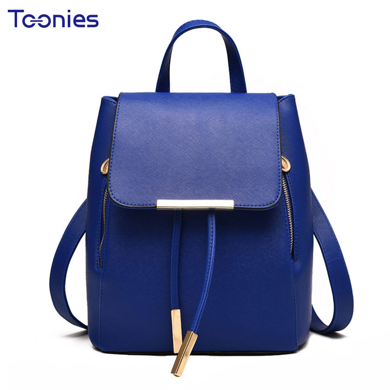 Women s Backpacks Bag High Quality Leather Backpack Women Solid School Bags For Girls Small Travel